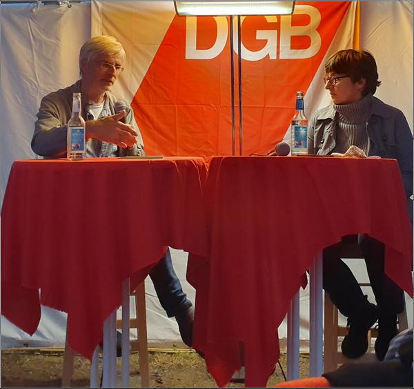 Michael Schmidt IGM und Susanne Uhl DGB